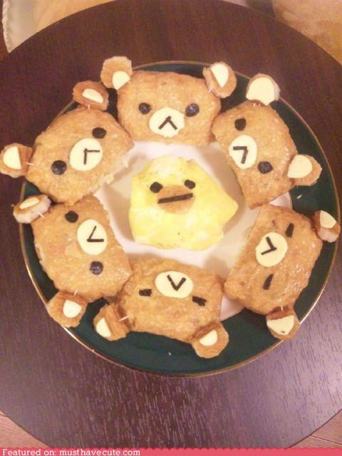 bear,epicute,faces,inari,Rilakkuma,sushi,tofu