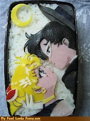 art bento KISS lunch romace sailor moon - 4655380224