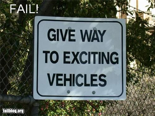 cars excited failboat g rated signs spelling - 4655532544