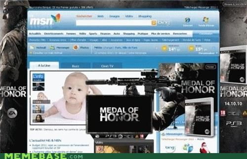 Ad,baby,medal of honor,Memes,msn,terrible