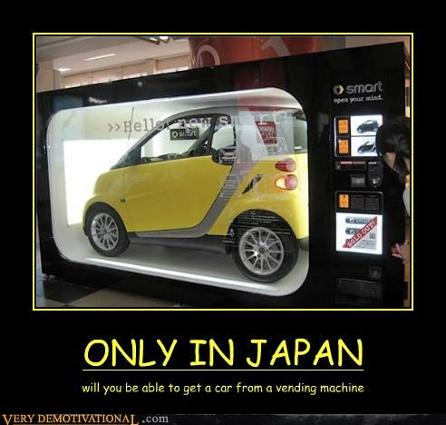 awesome car Japan vending machine wtf - 4656075008