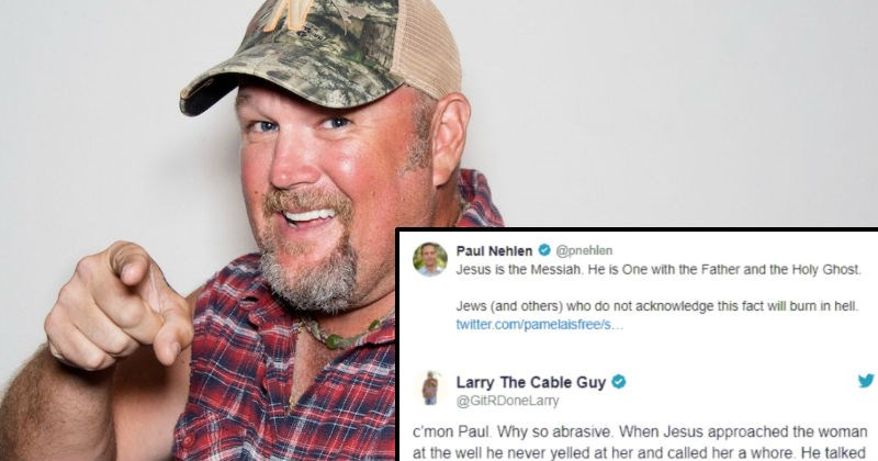 Larry the Cable Guy vs Nazis on Twitter is pure comedy gold.