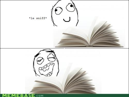 books,delicious,pages,Rage Comics,smell