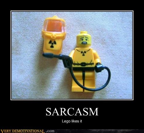 SARCASM Lego likes it