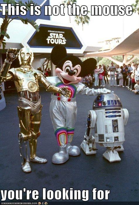 disney funny mickey mouse c3p0 r2d2 sci fi star wars - 4657430016