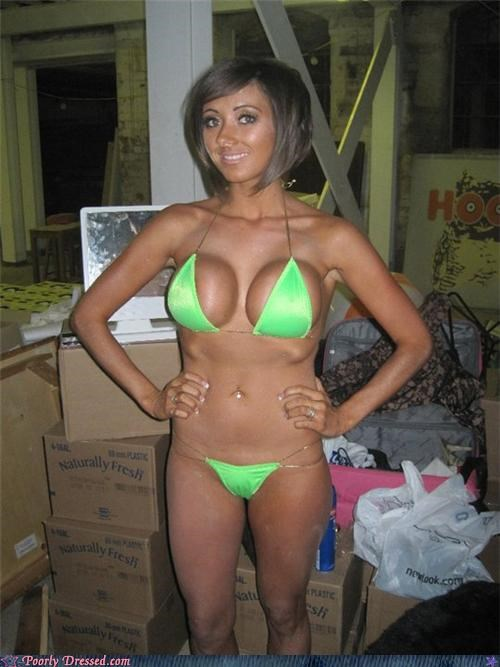 bikini,fake,orange,Silicone