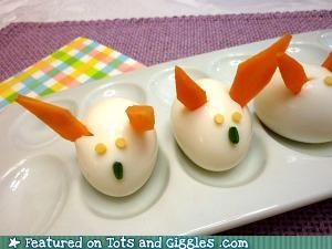 easter eggs rabbits snack of the day - 4657478144
