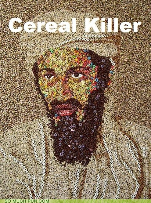 art cereal homophone killer mosaic Osama Bin Laden serial - 4657618176