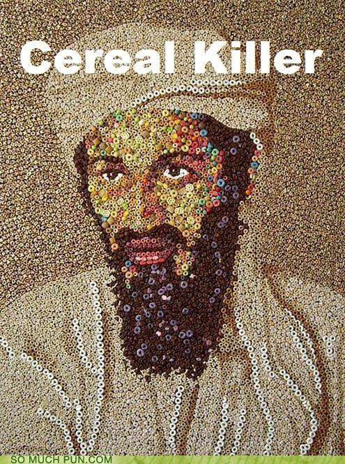 art cereal homophone killer Osama Bin Laden serial - 4657618176