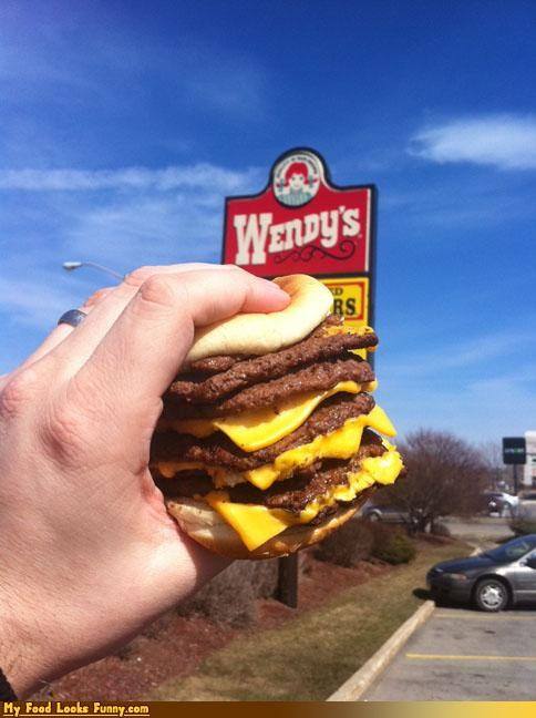 8 patties,burger,cheese,killer,octo stack,wendys