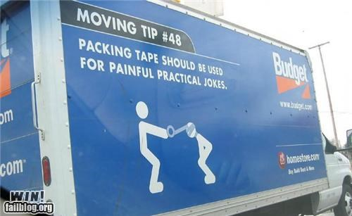 ads funny moving painful lessons pranks tape tips truck
