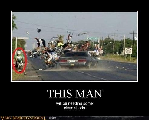 bicyclist car crash poop - 4657938176