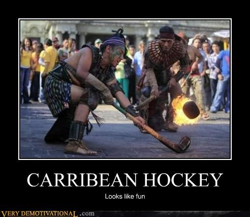 awesome Caribbean hockey fire funny - 4657944832
