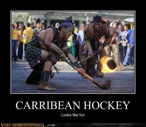 awesome Caribbean hockey fire funny - 4657944832