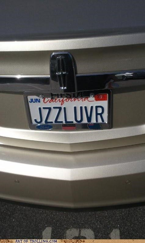 IRL jazz license plate lover semen