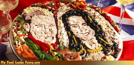 art faces kate pizza royal wedding wills - 4658156800