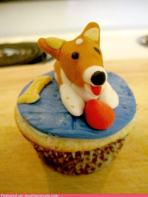 ball,bone,corgi,cupcakes,dogs,epicute,fondant