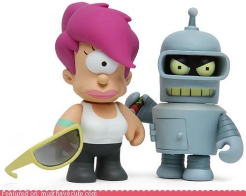 bender,figures,figurines,futurama,leela,toys,vinyl