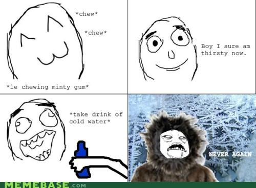 fresh gum minty never again oh god Rage Comics water - 4658202624