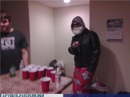 beer pong,pajamas,santa