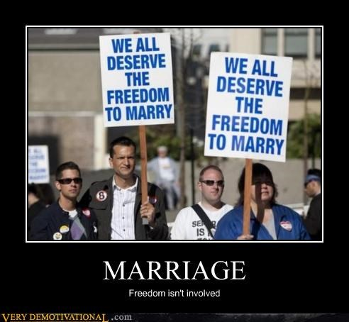 freedom marriage Protest sign