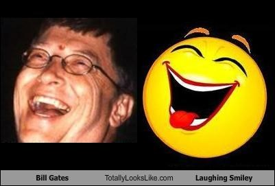 Bill Gates Totally Looks Like Laughing Smiley - Totally Looks Like