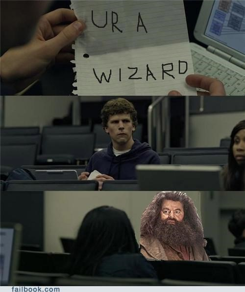 Harry Potter,meme,youre-a-wizard,zuckerberg note pass