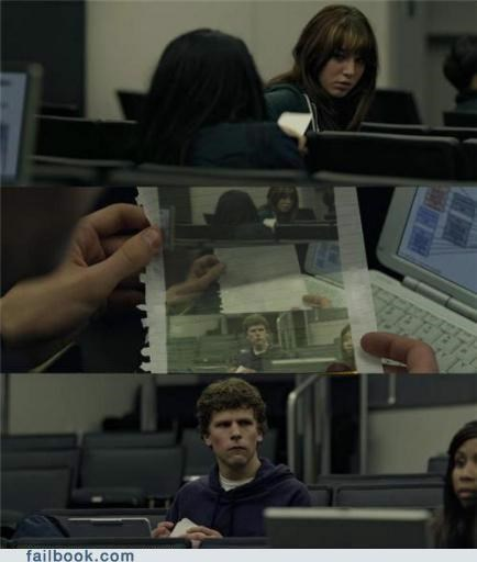 Inception meme the social network zuckerberg note pass