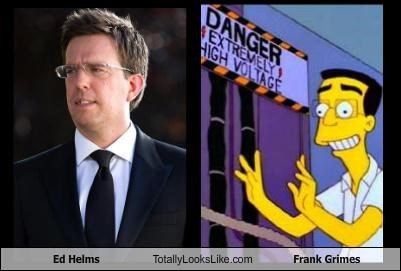 actors,ed helms,Frank Grimes,the simpsons