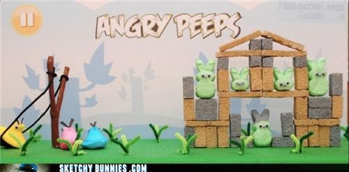 angry birds,candy,extra easter egg,food,peeps,video games