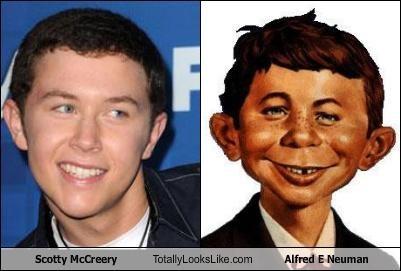 Alfred E Neuman American Idol Mad Magazine mascots Scotty McCreery singers - 4658920704