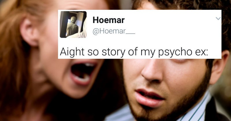 Guy shares insane story about psycho ex-girlfriend on Twitter in epic, long thread.