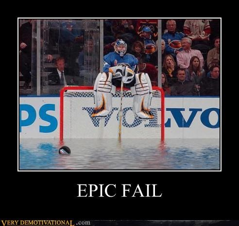 FAIL hockey ice melt water