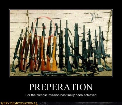 preparation rifles weapons zombie