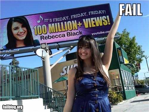 annoying failboat FRIDAY g rated Memes pop culture Rebecca Black Songs