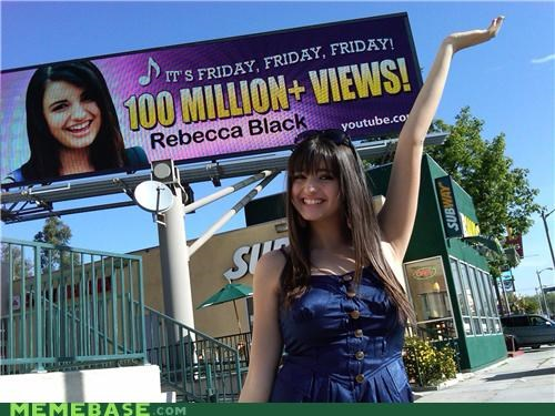 FRIDAY,million,Rebecca Black,views,youtube