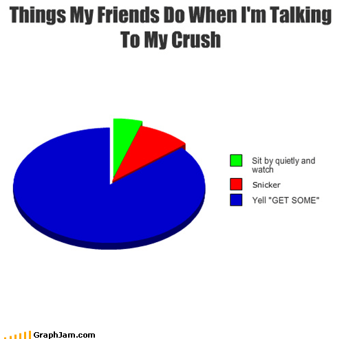 embarrassing,friends,life,Pie Chart