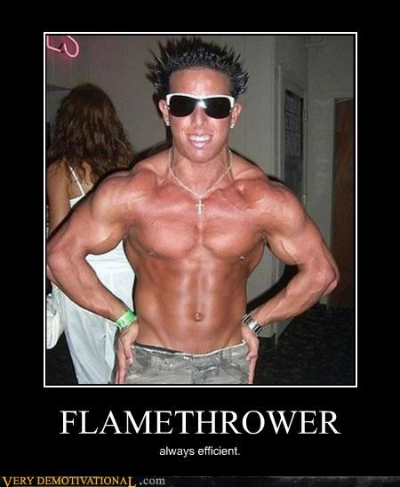 douche efficient eww flame thrower