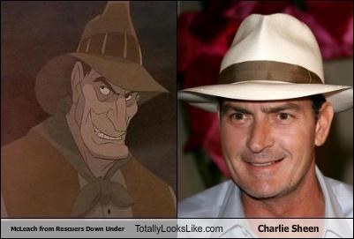 actors cartoons Charlie Sheen disney movies percival-c-mcleach Rescuers Down Under