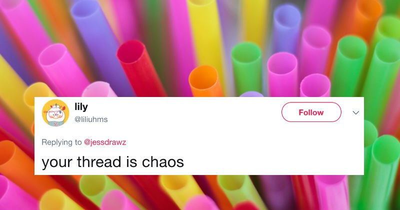 People argue on Twitter over whether straws have one hole or two.