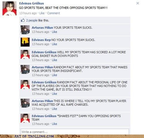 GO SPORTS TEAM! - Art of Trolling - Troll | Trolling | Yahoo