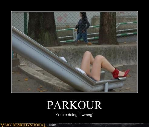 doing it wrong park parkour Sexy Ladies