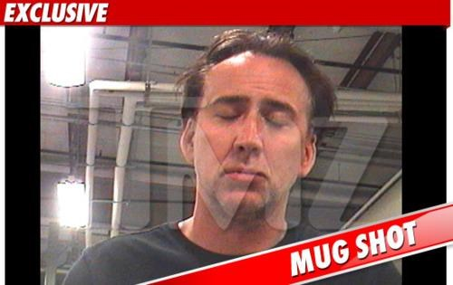 Celeb Arrest,mug shot,nic cage