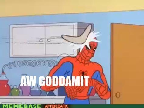 boomerang,darn,indoors,Spider-Man,superheroes,television