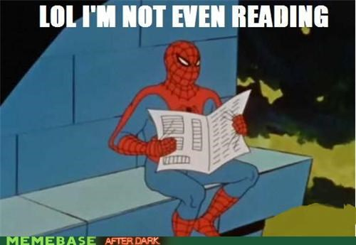 lol mask newspaper reading Spider-Man superheroes - 4661605376