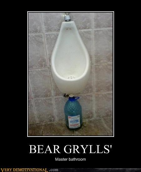 bear grylls,urinal,wtf