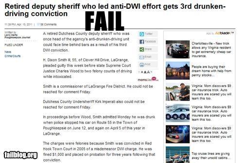 alcohol drinking dui failboat Hypocrisy police Probably bad News - 4661631744