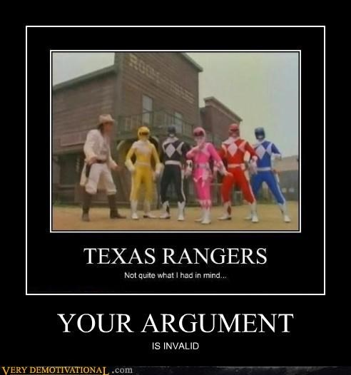 argument invalid power rangers wtf