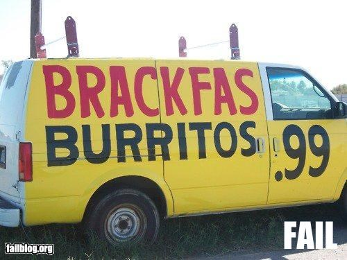 advertising,breakfast,failboat,food,g rated,spelling,van,yummy