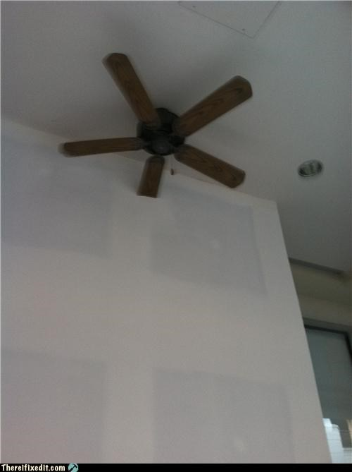 built in,construction fail,fan,wall